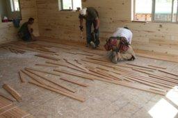 Cherry hardwood floor installation hardwood is in living for Wood floor installation